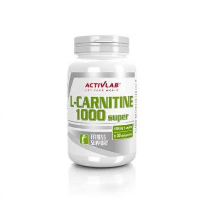 L-carnitine 1000 Super 30 caps Preço ActivLab - CorposFlex