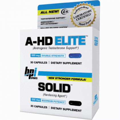 A-hd elite 30 caps + BPI solid combo stack BPI Sports