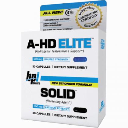 A-hd elite 30 caps + BPI solid combo stack BPI Sports
