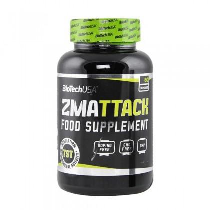 ZMAttack 60 caps ZMA Anabólico Biotech USA Nutrition