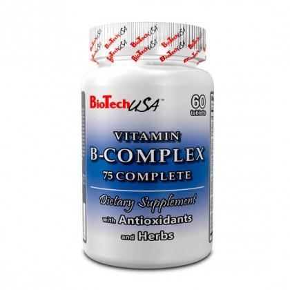 Vitamin B Complex 75 complete 60 tabs Biotech