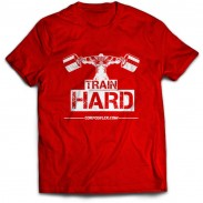 T-shirt train hard red limited edição exclusiva CorposFlex