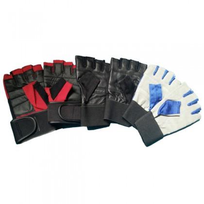 Luvas para musculação fitness ginásio em pele - CorposFlex