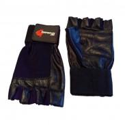 Luvas de treino para musculação e desporto em pele - CorposFlex