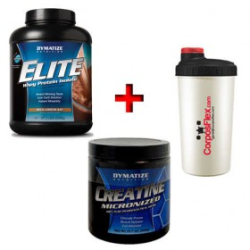 Pack Suplementos Elite Whey + Creatine Dymatize