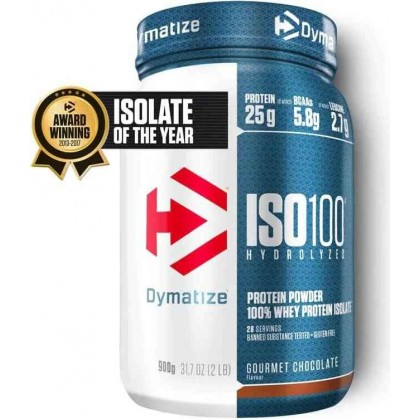Iso 100 hydrolyzed whey protein 900g Dymatize