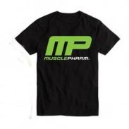 T-shirt Cor Preta Para Treino Musclepharm