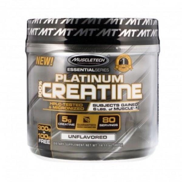 Muscletech Platinum 100 Creatine 400g Creatina - CorposFlex 24484eb17f1