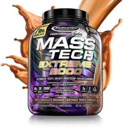 Mass Tech Extreme 2000 3.2kg 7lbs Gainer Muscletech