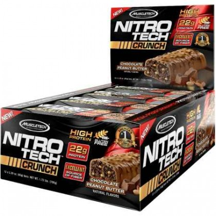 Nitro Tech Crunch Bar 65g proteína Muscletech