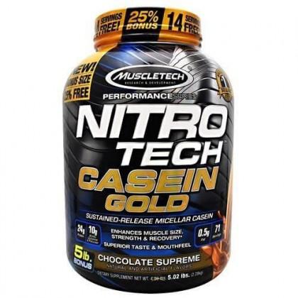 Nitro Tech Casein Gold 2.28kg Caseina Micelar Muscletech