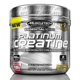 Platinum 100 Creatine 400g Pura Muscletech