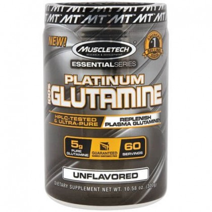 Platinum 100 Pure Glutamine 302g Muscletech