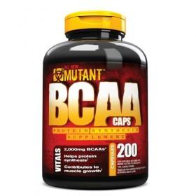 BCAA 200 caps Aminoácidos Mutant
