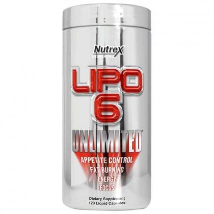 Lipo 6 unlimited 120 caps termogénico Nutrex