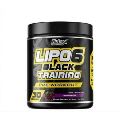 Lipo 6 Black Training 30 Servings Treino Nutrex