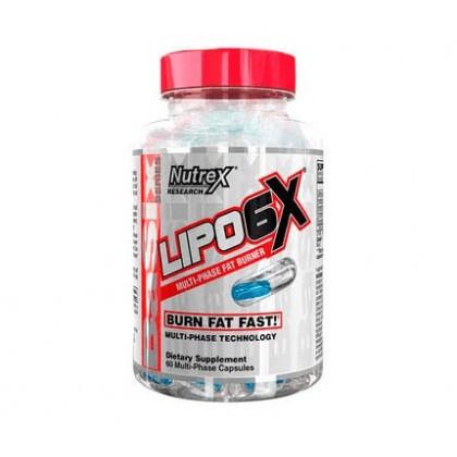 Lipo 6x Multi-Phase 60 cápsulas Termogénico Nutrex