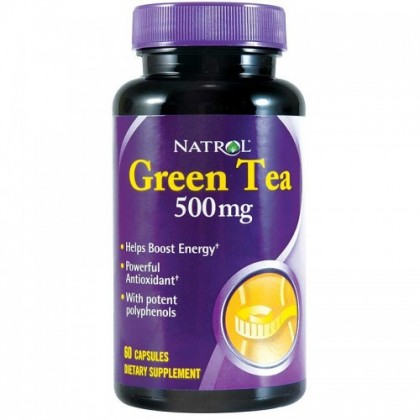 Green Tea 60 caps 500mg Chá Verde Natrol