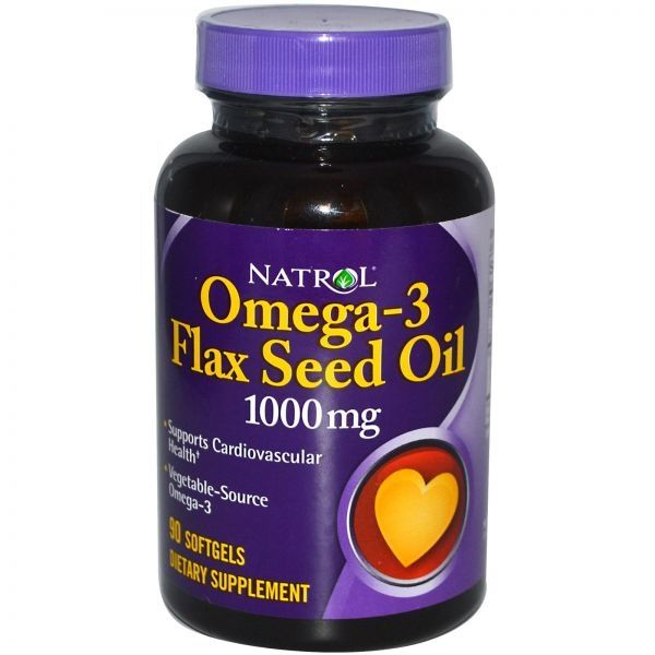 Natrol Omega-3 FlaxSeed Oil 120 caps 1000mg - CorposFlex