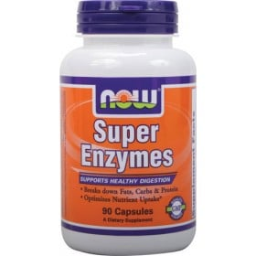 Super Enzymes 90 tabs Digestivas Now Foods