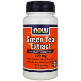 Green Tea Extract 100 caps Chá Verde NOW Foods