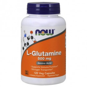 L-Glutamine 500mg 120 caps Glutamina Now Foods