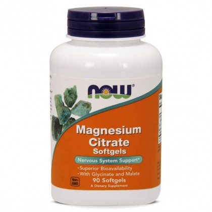 Magnesium Citrate 90 Softgels 500mg Now Foods