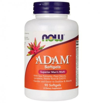 Adam 90 Veg Softgels caps Men's Multi Now Foods