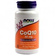 CoQ10 30 mg 60 veg Caps Coenzima Now Foods