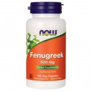 Fenugreek 500mg 100 caps Propriedades Now Foods