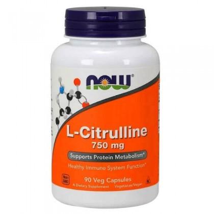 L-Citrulline 750mg 90 caps Beneficios Now Foods