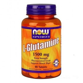 L-Glutamine 1500mg 90 tabs Glutamina Now Foods