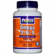 Omega 3, 6, 9 1000mg 100 softgels Now Foods