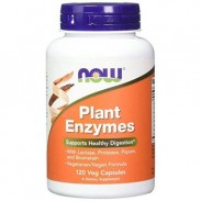 Plant Enzymes 120 Caps Enzimas de Plantas Now Foods
