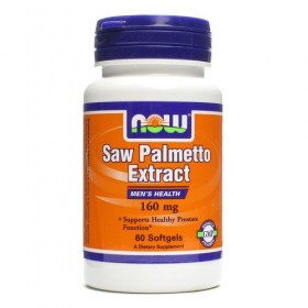 Saw Palmetto 160mg 60 caps Efeitos Now Foods