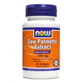 Saw Palmetto 160mg 60 caps Efeitos Now Foods