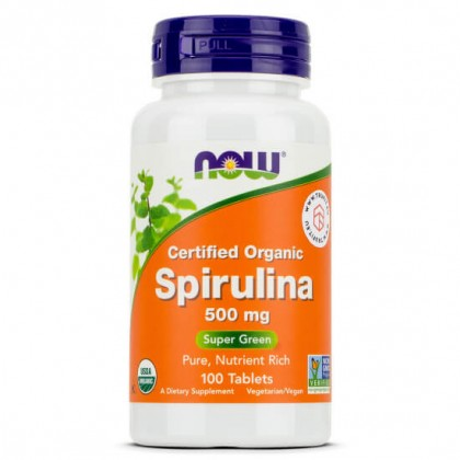 Spirulina 500mg 100 Comprimidos Now Foods - CorposFlex