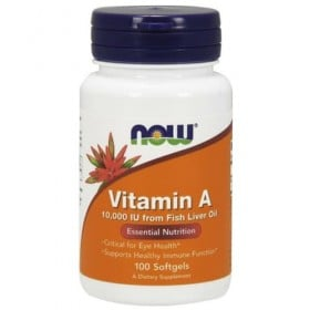 Vitamin A 10000 IU 100 caps softgels Now Foods