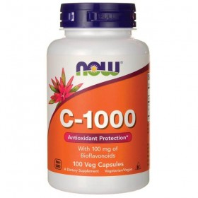 C-1000 100 caps Vitamina C Antioxidante Now Foods