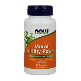 Men's Virility Power 60 caps Libido Now Foods