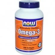 Omega 3 1000mg 200 caps gel Now Foods