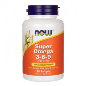 Omega Super 3-6-9 1200mg 90 Softgels caps Now Foods