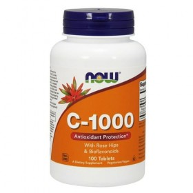 C-1000 100 caps Vitamina-C Antioxidante Now Foods