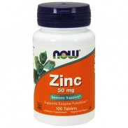 Zinc 50mg 100 tabs Zinco Gluconato Now Foods