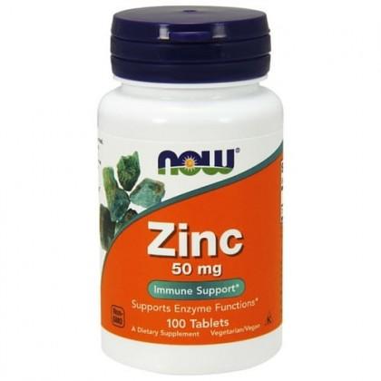 Zinc 50mg 100 tabs Zinco Gluconato Now Foods
