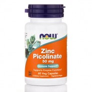 Zinc Picolinate 50mg 60 caps Now Foods