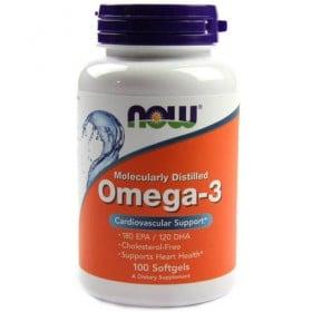 Omega 3 100 Softgels caps 1000mg Now Foods