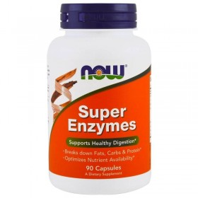 Super Enzymes 90 caps Digestivas Now Foods