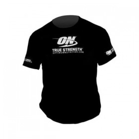 T-shirt True Strength Preta Optimum Nutrition
