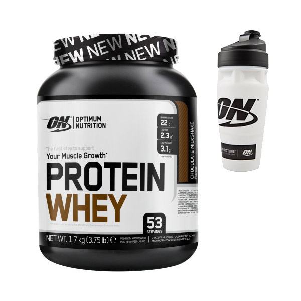 Protein Shaker Optimum Nutrition: Optimum Protein Whey 53 Servings 1700g Proteina